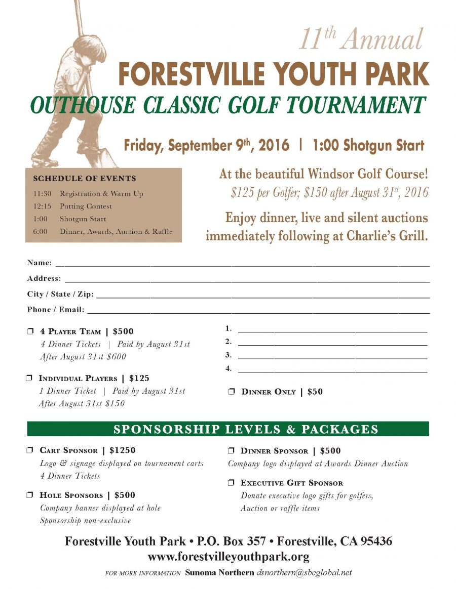 2016 Golf Tournament Flyer